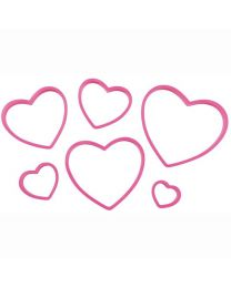 Hart Uitsteker Set - Nesting Heart Cutter Set - Wilton