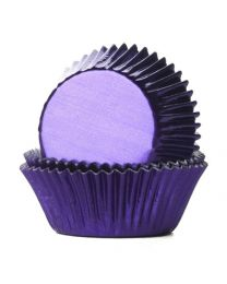 House of Marie Baking Cups Folie Paars - pk/24
