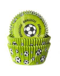 HoM Baking Cups Voetbal Groen - 50