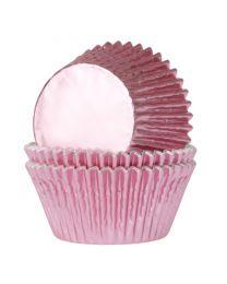 HoM Baking Cups baby Roze folie - 24stuks