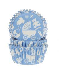 HoM Baking Cups Newborn Blue