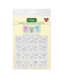 Bunting Alphabet Mould - Katy Sue (Vlaggetjes met letters)