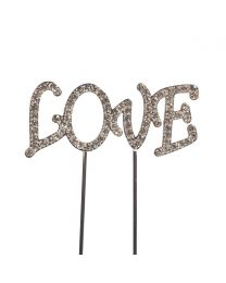 Cake Star Cake Topper Diamante Love