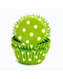 CK Mini Baking Cups Lime met Witte Stip
