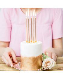 PartyDeco Verjaardag Kaarsen Goud 12,5cm pk/12