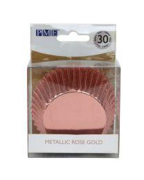 Home  PME Baking Cups Metallic Rose Gold pk/30
