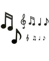 Muziek noten en sleutel