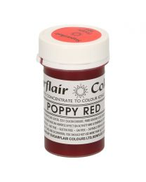 Sugarflair Colours - Poppy Red