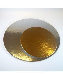 3x Ronde taartkartons Zilver/Goud 26 cm