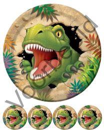 Eetbare Taart + Cupcake Print - Dino's